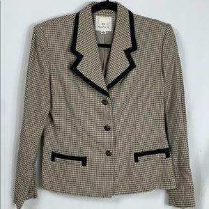 Vintage En Avance tan/black plaid blazer size 6